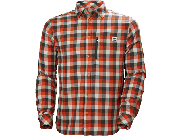 Helly Hansen Lokka T-shirt à manches longues Homme, cherry tomato plaid